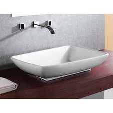 Ceramica Rectangular Bathroom Sink