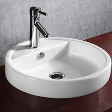 Ceramica Round Self Rimming Bathroom Sink
