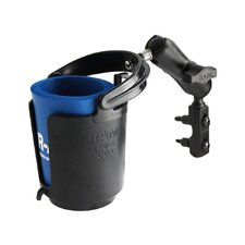 Drink Cup Holder with Motorcycle Brake / Clutch Cylinder U-Bolt