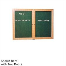 "36"" x 24"" Wood Framed Directory with Glass Door"