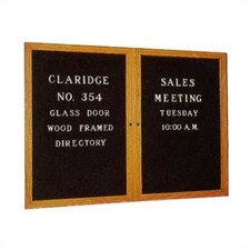 No. 3054 Wood Framed Glass Door Directory