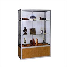<strong>Claridge Products</strong> No. 334/B Freestanding Display Case with Glass Back Panel