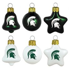 6 Piece NCAA Ornament Set