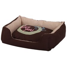Plush Cuddler 'I Love You' Pet Bed