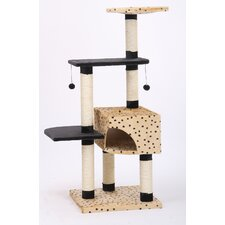 "55"" Leopard Print Cat Tree"