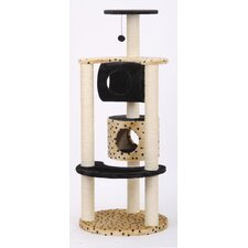 "Journey 57"" Multi-Level Fleece and Sisal Activity Center Cat Condo"