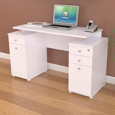 Laura Computer Desk with Accessory Drawers