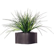 "Floral 22"" Artificial Potted Grass in Green"
