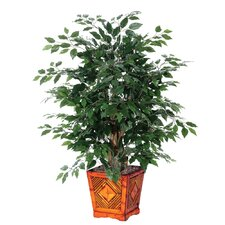 Deluxe Artificial Ficus Tree in Planter