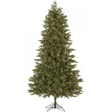 Slim Balsam 7.5' Green Fir Artificial Christmas Tree with 700 Dura-Lit Clear Lights