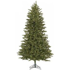 Slim Balsam 6.5' Green Fir Artificial Christmas Tree with 500 LED White Lights