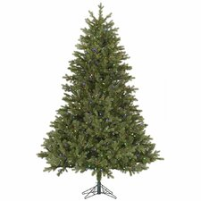 Balsam 7.5' Green Fir Artificial Christmas Tree with 800 LED Multi-Colored Lights
