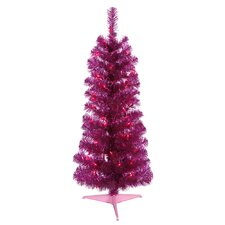 Colorful 2' Artificial Christmas Tree with 35 Lights with Stand