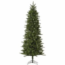 Carolina Pencil 7.5' Green Spruce Artificial Christmas Tree with Unlit