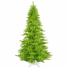 6.5' Lime Fir Artificial Christmas Tree with 600 Mini Single Colored Lights
