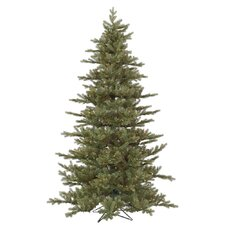 Baldwin Spruce 7.5' Green Fir Artificial Christmas Tree with 700 Dura-Lit Multi-Colored Lights with Stand