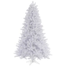 Crystal White 7.5' Pine Artificial Christmas Tree with Stand