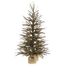 2' Green Artificial Christmas Tree with 20 Clear Lights
