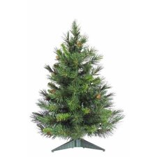 Cheyenne 2' Green Artificial Christmas Tree with Stand