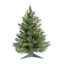 Cheyenne 2' Green Artificial Christmas Tree with 50 Clear Lights