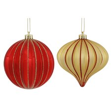 9 Piece Onion/Ball Assorted Ornament Set