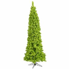 4.5' Lime Pine Artificial Christmas Tree with 100 Mini Single Colored Lights with Flocked