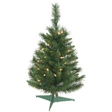 Imperial Pine 2' Green Artificial Christmas Tree with 35 Lights with Stand