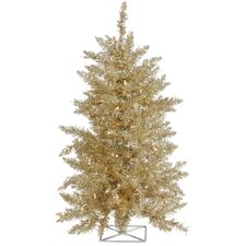 Champagne 2' Artificial Christmas Tree with 35 Mini Clear Lights with Stand