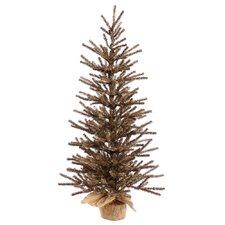 4' Chocolate Tree with Burlap Base Artificial Christmas Tree