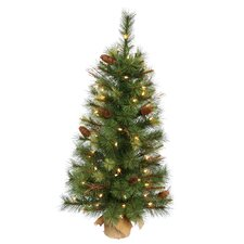 Caribou 2' Pine Tree Artificial Christmas Tree with 35 Clear Light