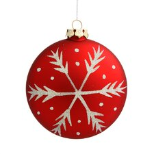 Assorted Shape Round Snowflake Ornament (Set of 3)