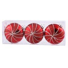 Assorted Shape Flat Ball Ornament (Set of 3)