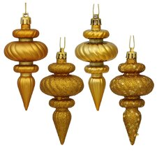 8 Piece Finial Assorted Ornament Set