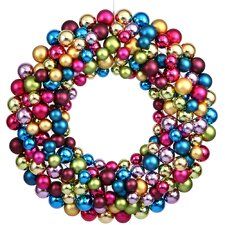 Colored Ball Wreath