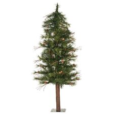 Mixed Country Alpine 7' Green Artificial Christmas Tree with Unlit with Stand