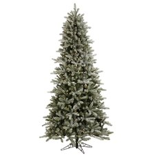 Frosted Frasier Fir 7.5' Green Artificial Christmas Tree with 650 Clear Lights with Stand