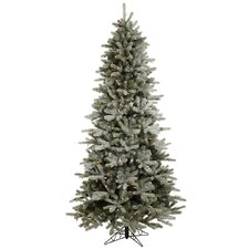 <strong>Vickerman Co.</strong> Frosted Frasier Fir 8.5' Green Artificial Christmas Tree with 550 Multicolored LED Lights with Stand