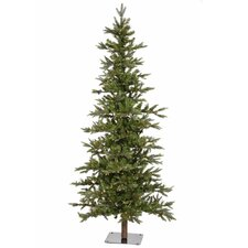 <strong>Vickerman Co.</strong> Shawnee Fir 8' Green Alpine Artificial Christmas Clear Lights with 450 Clear Lights with Stand