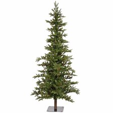 Shawnee Fir 7' Green Alpine Artificial Christmas Tree with 350 Multicolored Lights with Stand