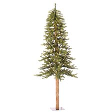 Natural Alpine 7' Green Artificial Christmas Tree with 300 Clear Lights with Stand