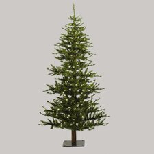 Minnesota Pine 7' Green Artificial Half Christmas Tree with Stand