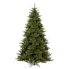 Camdon Fir 7.5' Green Artificial Christmas Tree with 800 LED Warm White Lights with Stand