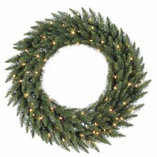 "<strong>Vickerman Co.</strong> Camdon Fir 48"" Wreath with Clear Lights"