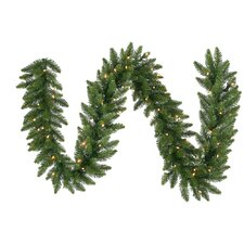 "Camdon Fir 14"" Garland with LED Lights"