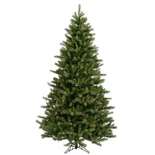 "Black Hills Spruce 6' 6"" Green Artificial Christmas Tree with 500 Multicolored Lights with Stand"