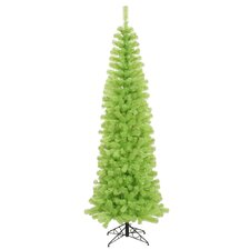 Chartreuse Pencil 6.5' Green Artificial Christmas Tree with 300 Green Lights