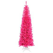 <strong>Vickerman Co.</strong> Pencil 5.5' Pink Artificial Christmas Tree with 250 Pink Lights