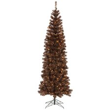 5.5' Mocha Artificial Pencil Christmas Tree with 250 Clear Mini Lights