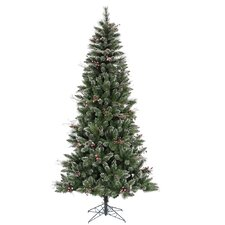 4.5' Green Snowtip Berry/Vine Artificial Christmas Tree with Metal Stand