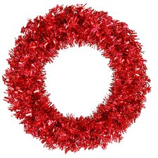 "<strong>Vickerman Co.</strong> Red Wide Cut 60"" Wreath in Red"
